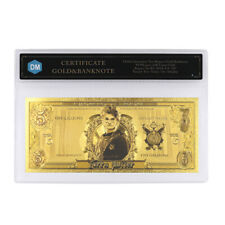 Festival Souvenir Gifts Harry Potter 24k Gold Plated Gold Banknote with COA