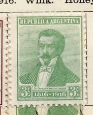 Argentine Republic 1916 Early Issue Fine Mint Hinged 3c. 183019