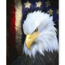 "American Patriot Panel Eagle Flag Digital Print Cotton Fabric Panel, 36"" x 44"""