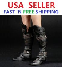 1/6 Assassin's Creed Leather Boots BLACK Roman Soldier Armor For MALE PHICEN