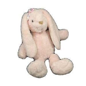 Dan Dee Pink Bunny Rabbit Plush Stuffed Animal Toy Pink Bow Easter 16 in Age 3+