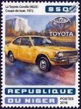 1972 TOYOTA COROLLA KE25 Deluxe Coupe Classic Car Stamp (2016 Niger)
