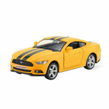 1/36 Scale Ford Mustang 2015 Model Car Diecast Toy Vehicle Pull Back Kids Yellow