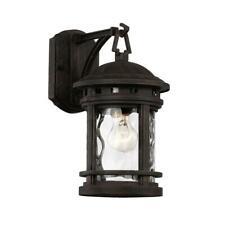 Bel Air Lighting Boardwalk 1-Light Rust Outdoor Wall Lantern Sconce