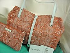 Tiffany&Co Tiffany Reversible Tote Hand Bag Coral -White,Brand New.