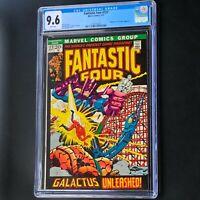FANTASTIC FOUR #122 (1972) 💥 CGC 9.6 White 💥 Silver Surfer & Galactus! Marvel