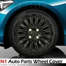 """Fit Honda MATTE BLACK 15"""" HUB CAPS STEEL WHEEL COVERS LUG FULL RIM SKIN HUBCAP"""