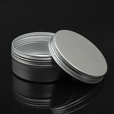 2 X 50ml Aluminum Cosmetic Jar Cream Empty Bottle Cream Containers Jars Pill Box