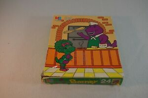 Barney Jigsaw Puzzle 24 Pieces 4365-6 MB Complete