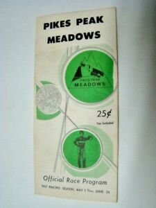 June 9, 1967 Pikes Peak Meadows Horse Race Track Betting Program Fountain CO