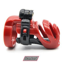 USA SHIP A358-2 Standard Red Resin Male Chastity Cage - Includes 4 Rings!