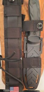 Gerber CFB Combat Fixed Blade, Tanto Knife, Detachable Sheath.ALL USA. AUTHENTIC