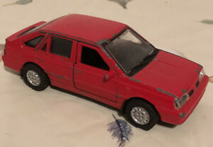 WELLY FSO POLONEZ CARO PLUS RED 1:60 DIE CAST METAL MODEL Banger Racing