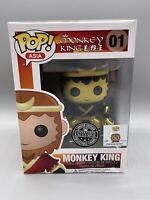 Funko Pop Asia Monkey King 01 GOLD LE Convention Exclusive - Flawed RARE
