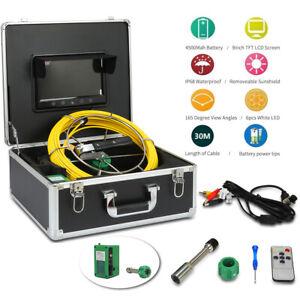 """IP68 9"""" LCD 30M Pipe Inspection Video Camera Rohrkamera Kanalkamera Endoskop"""