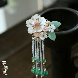 Sakura Kimono Hairpin Kanzashi Hair Stick Vintage Hanfu Clip Accessory Handmade