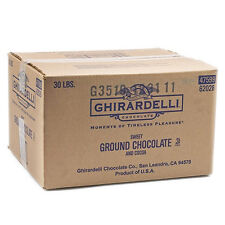 Ghirardelli Sweet Ground Chocolate and Cocoa Powder (30 lbs)(Free ship)