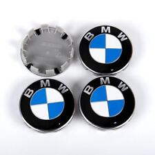 4 x WHEEL CENTRE HUB CAPS 10 Pin Clips 68mm Cover Badge Emblem for BMW
