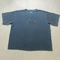 Life Is Good T-Shirt Size XL Blue No Wake Boat Boating Short Sleeve Mens