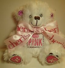 """6 In Pink Ribbon Awareness """"Go Pink"""" Teddy Bear"""
