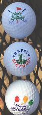 3 Happy  Birthday Golf Balls ReL Golf Balls