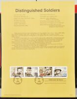 Scott # 3393 - US Souvenir Sheet of 4 - Distinguished Soldiers - MNH - 2000