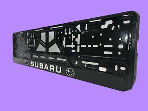 SUBARU Euro License Plate Tag Holder Mount Adapter Bumper Frame Bracket