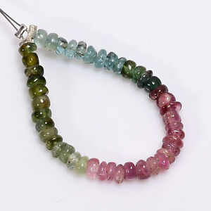 """Natural Multi Tourmaline Rondelle Shape Smooth Beads 2X2 3X2 mm Strand 3"""" DK2625"""