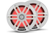 "ROCKFORD FOSGATE M1-65 WHITE RGB LIGHT 6.5"" 600W COAXIAL MARINE BOAT SPEAKERS"