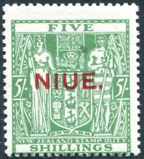 More details for niue-1931 5/- green postal fiscal sg 52 mounted mint v27124