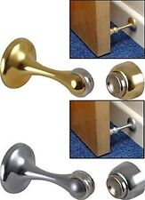 BRASS/CHROME MAGNETIC DOOR HOLDER STOP STOPPER CATCH WEDGE