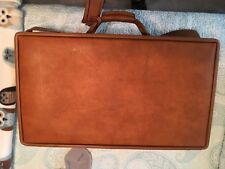 "Vintage Hartmann 21"" Light Brown Belted Leather Suitcase Luggage Rare Find"