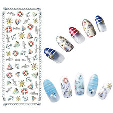 Nail Art Water Decal Fish Anchor Boat Transfer Sticker Manicure Tattoo DS-216