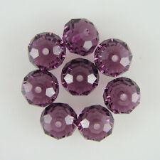 8 8mm Swarovski crystal rondelle 5040 Amethyst beads