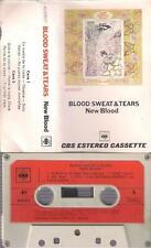 BLOOD SWEAT & TEARS New blood   DIFFICULT SPANISH CASSETTE PAPER LABEL 1972