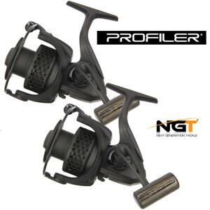 Carp Fishing Reel NGT Profiler 60 x2 Black Spare Spool Front Drag Coarse Pike