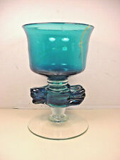 Mdina Art Glass Michael Harris Oceanic Chalice Signed Dated 1977 Vase