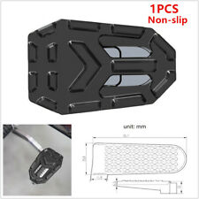 1x Widening Non-slip Brake Pedal Pad Motorcycle Bike Aluminum Part fit for BN600
