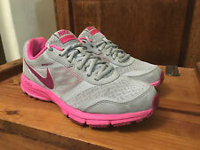 WOMENS NIKE AIR RELENTLESS 4 GYM TRAINERS SILVER / PINK UK 5 EU 38.5 COST £75