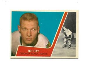 1963-64 Topps:#34 Bill Hay,Black Hawks
