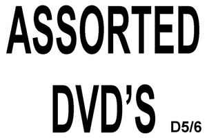 Assorted DVD Movies * FREE POSTAGE * alphabetical drop down menu * BeeD5/6