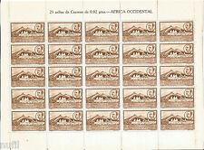 AFRICA OCCIDENTAL ESPAÑOLA edifil # 3 ** Hoja Completa 25 sellos Franco