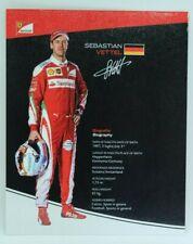 New listing 2016 Sebastian Vettel Ferrari F1 Driver Card Formula 1 Autograph Cards