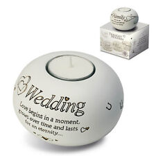 Said with Sentiment Wedding Tealight Candle Holder  - Gift Idea