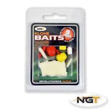 NGT Klone Artificial Baits 9pc Imitation Maggot Sweetcorn Bread Floating Sinking