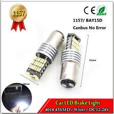 1Pcs White 4014 45 SMD LED 12V 24V 1157 BAY15D Car Bulb Turn Signal Backup Light