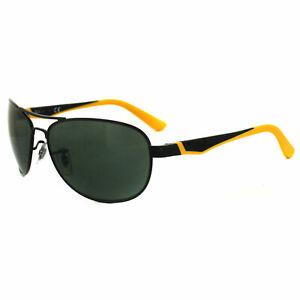 Ray-Ban Junior Sunglasses 9534 220/71 Shiny Black & Yellow Green
