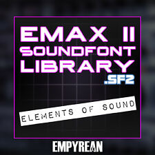 Emax II Elements Of Sound Soundfont Library SF2 Instruments Vintage Synth Tones