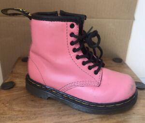 Kids DR MARTENS 1460 Acid Pink Boots - Size 7 (24)