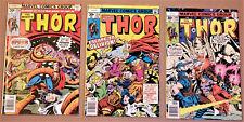 THOR #256, 259, 260 (Marvel 1977) High Grades